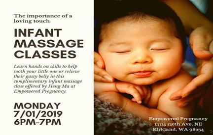 infant massage classes kirkland wa